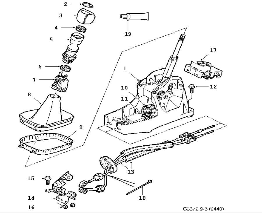 gear box control  manual  gear shift housing  shift lever