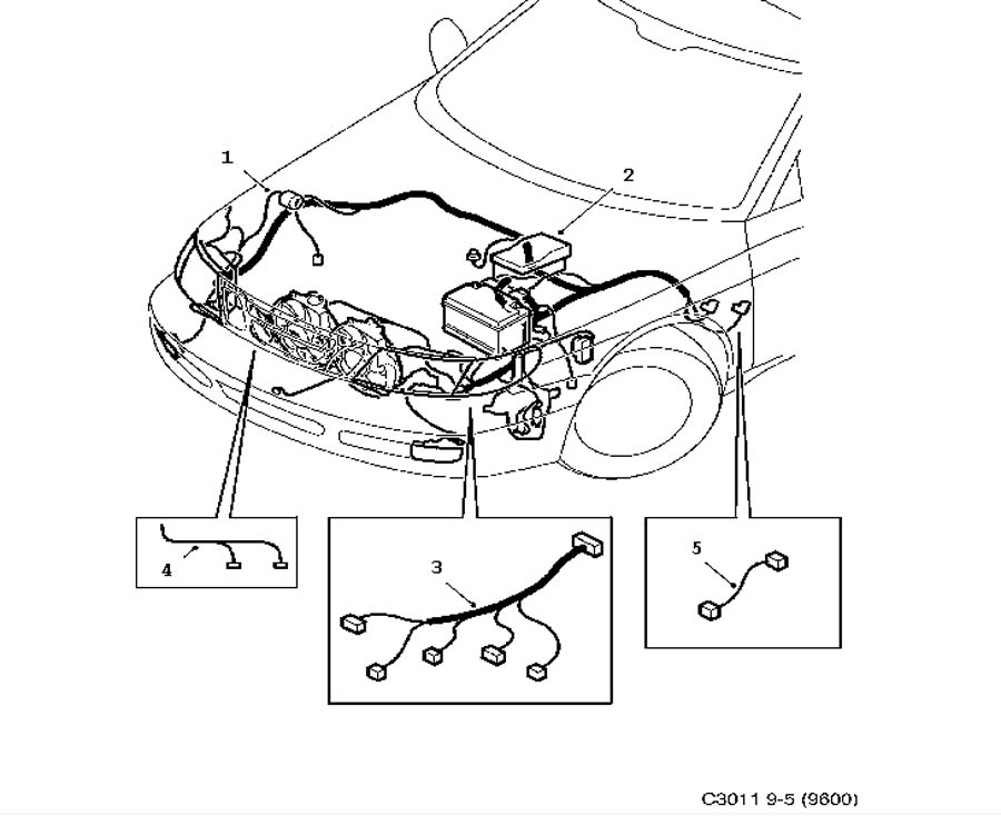 wiring harness on 87 saab 900 saab 900 turbocharger wiring