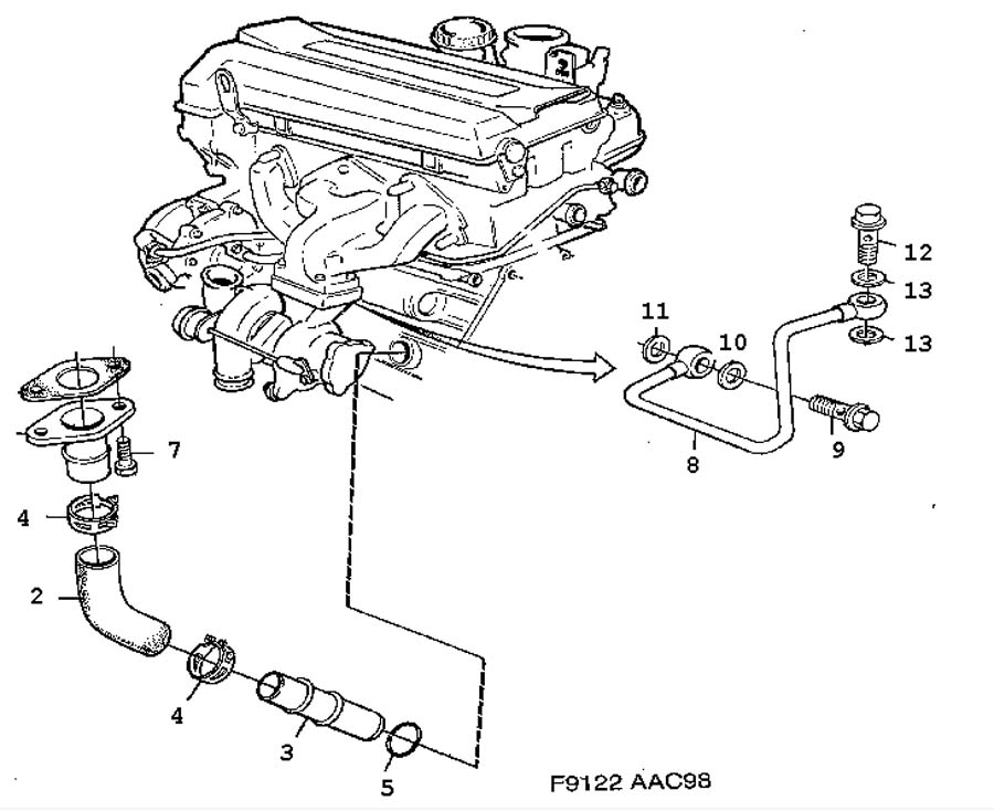 engine diagram 99 saab 9 3 turbo