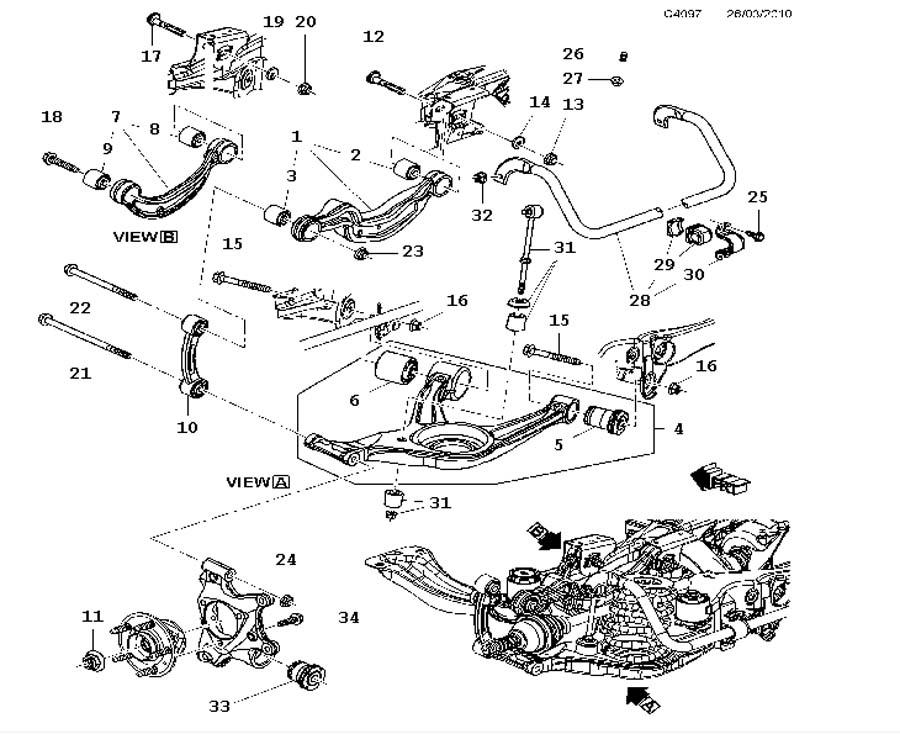 rear suspension  suspension arm  h arm  rear suspension