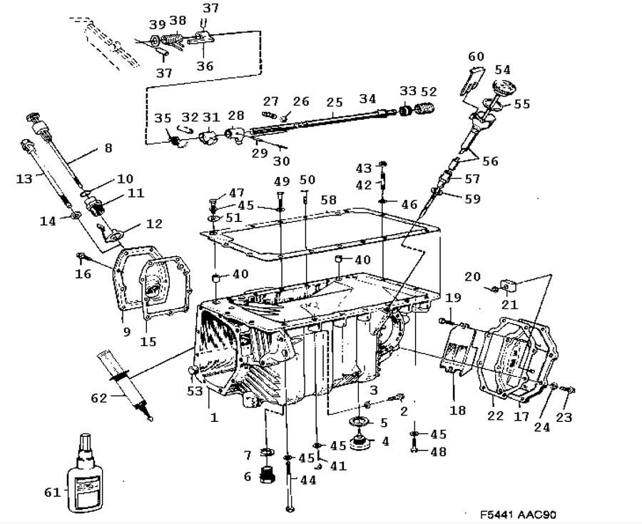 gear box  manual  gear box case  oil pan manual