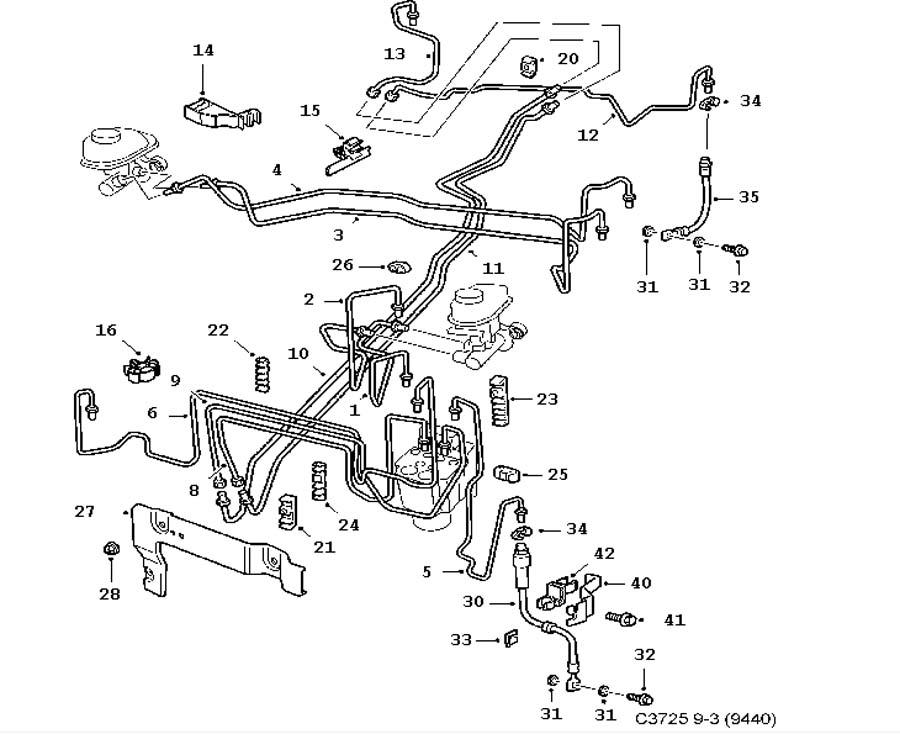 footbrake system  brake lines 4 door convertible 5 door
