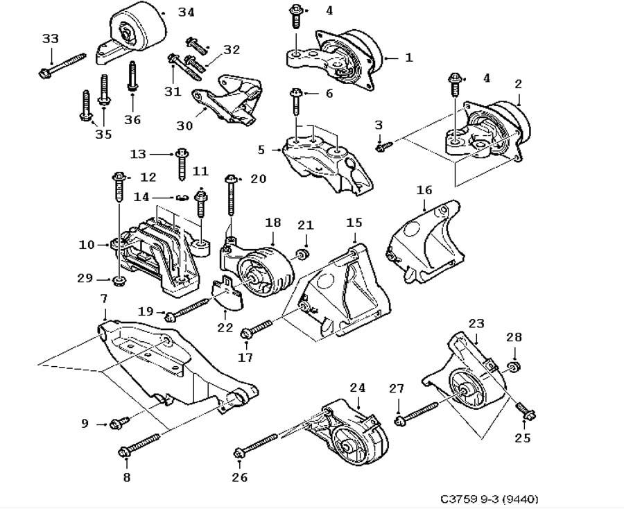 short block  engine suspension 6 cylinder