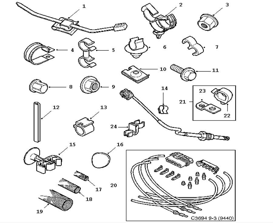wiring and fuses  bushings  screws   clamps etc 4 door 5 door convertible