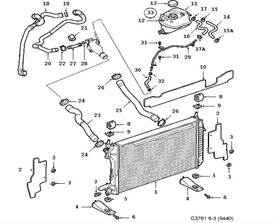 Cooling System  Radiator  Expansion Tank 6 Cylinder