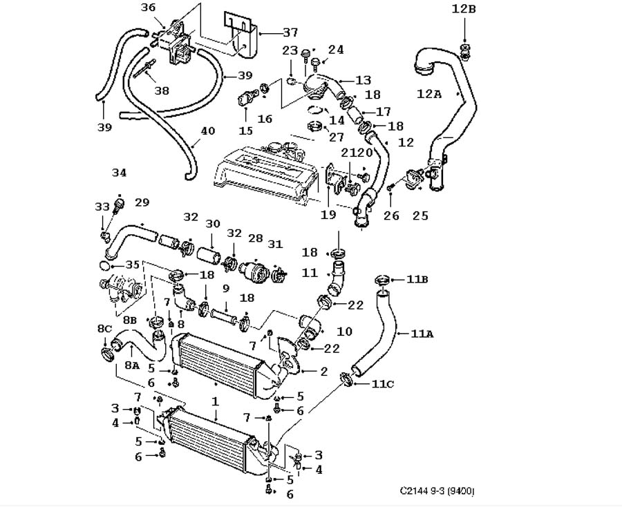 Sujet870 besides Saab 9000 Vacuum Hose Diagram as well Showthread moreover Chevy S10 2 2l Engine Diagram additionally Gm 4 2 Liter Engine. on saab 9 3 aero