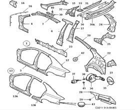 Volvo Bushing 8666205 additionally Volvo S60 Parts Location besides Saab Front Suspension Diagram likewise Saab 9 3 Engine Mount Diagram further 1996 Saab Wiring Diagrams. on 2003 saab 9 3 strut