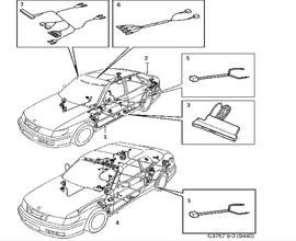 2000 saab convertible top diagram