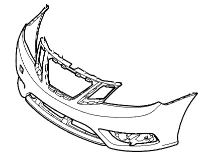 Free Ground Shipping Genuine Saab 9 3 Front Bumper Cover 2008