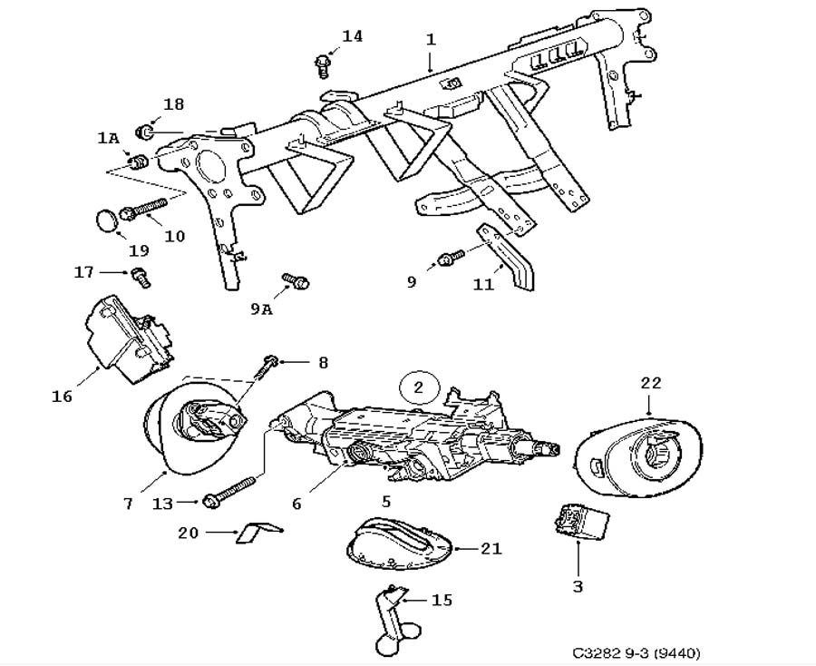 2001 saab 9 3 suspension diagram