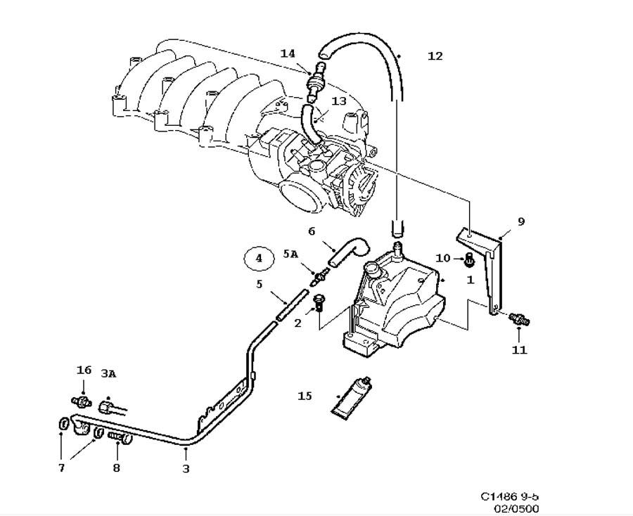 lubrication system  crank case ventilation 6 cylinder