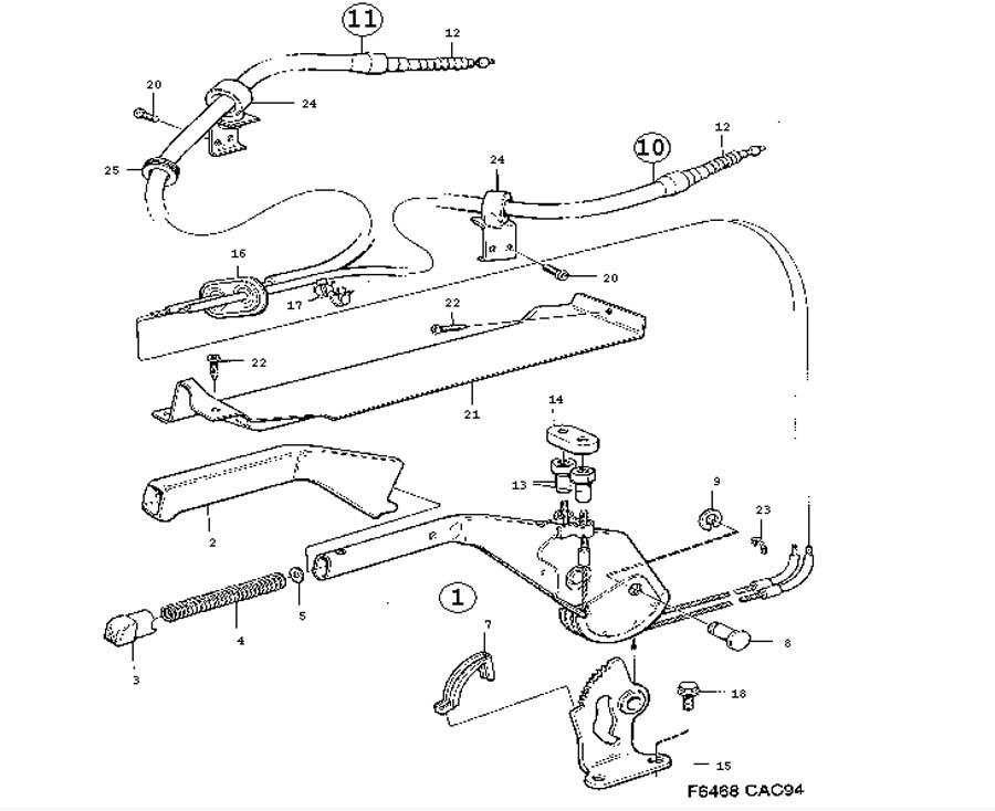 Auto Park Brake System Parts : Parking brake system