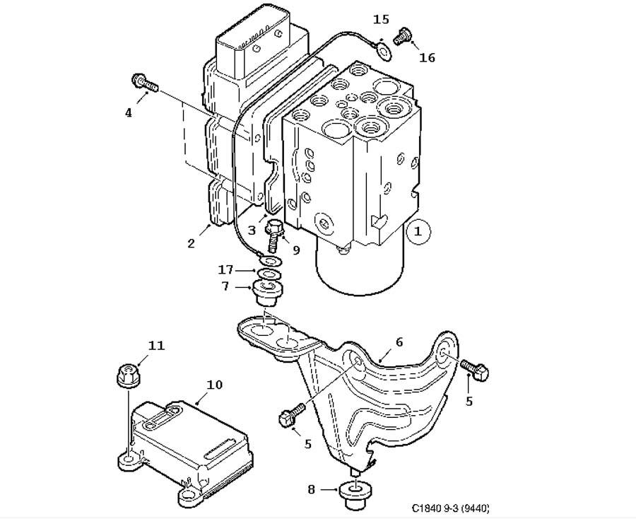 ABS Control unit (9-3 2006-2011)[93196759] ESP, FWD