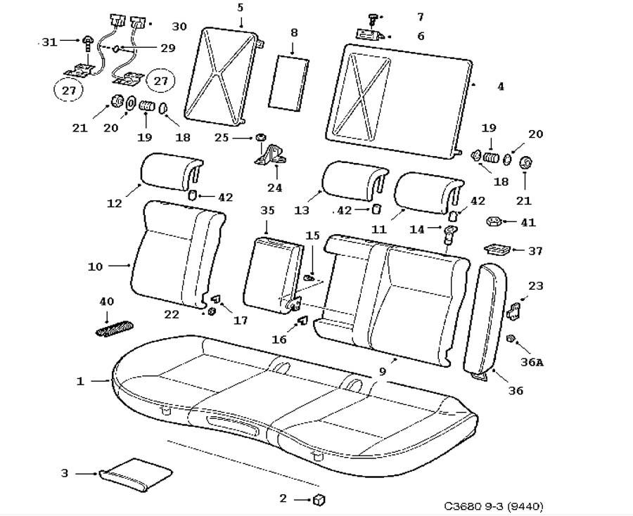 93 1998201111900430: Saab 9 3 Parts Diagram Interior At Downselot.com