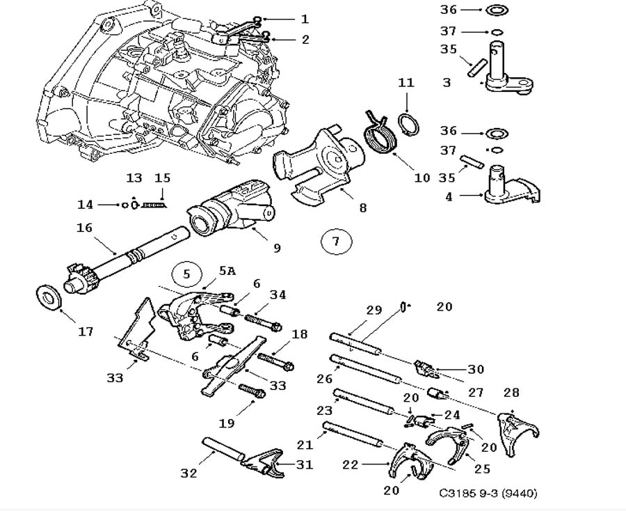 daewoo automatic transmission diagram