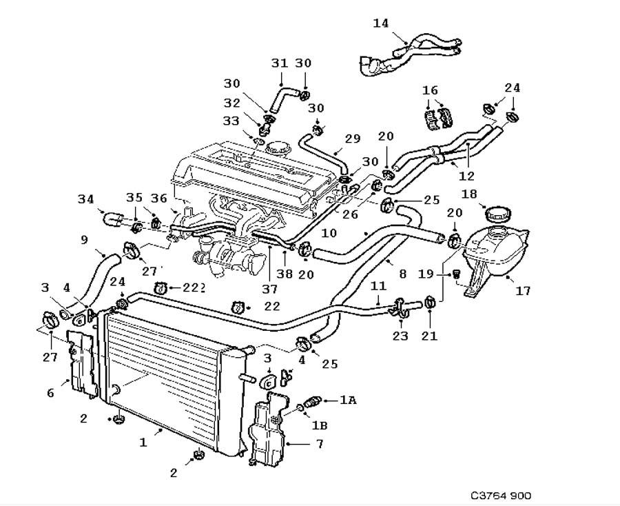 cooling system  cooling system 4 cylinder