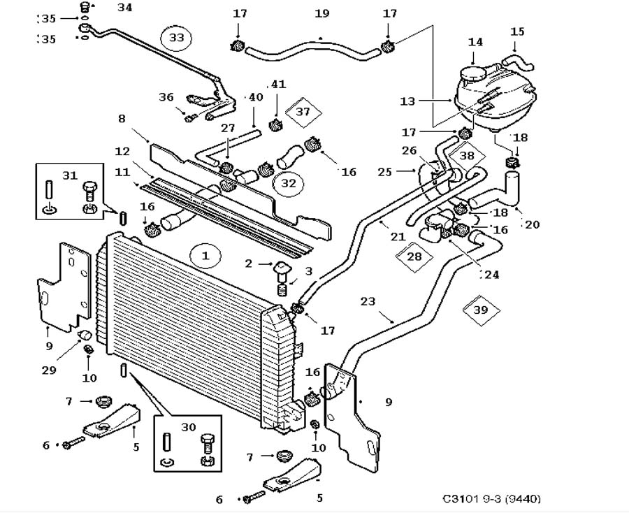Saab 9 3 Radiator Hose Location on hvac thermostat wiring diagram
