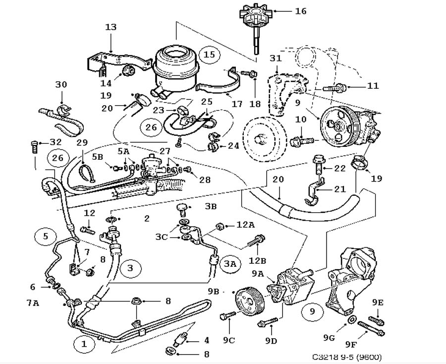 Steering Device Pump Hydraulic Oil Hoses