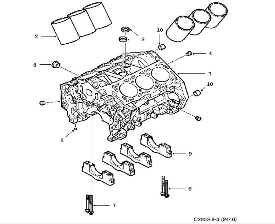 Short Block Cylinder Block 6 Cylinder