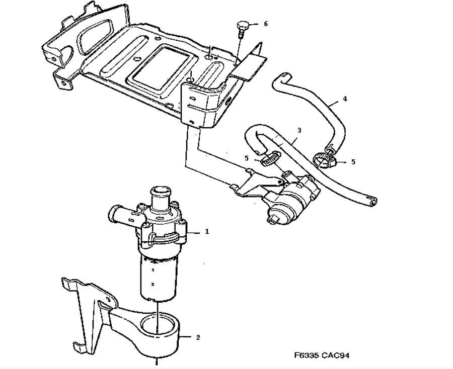 Cooling System Circulation Pump 6 Cylinder 6 Cylinder