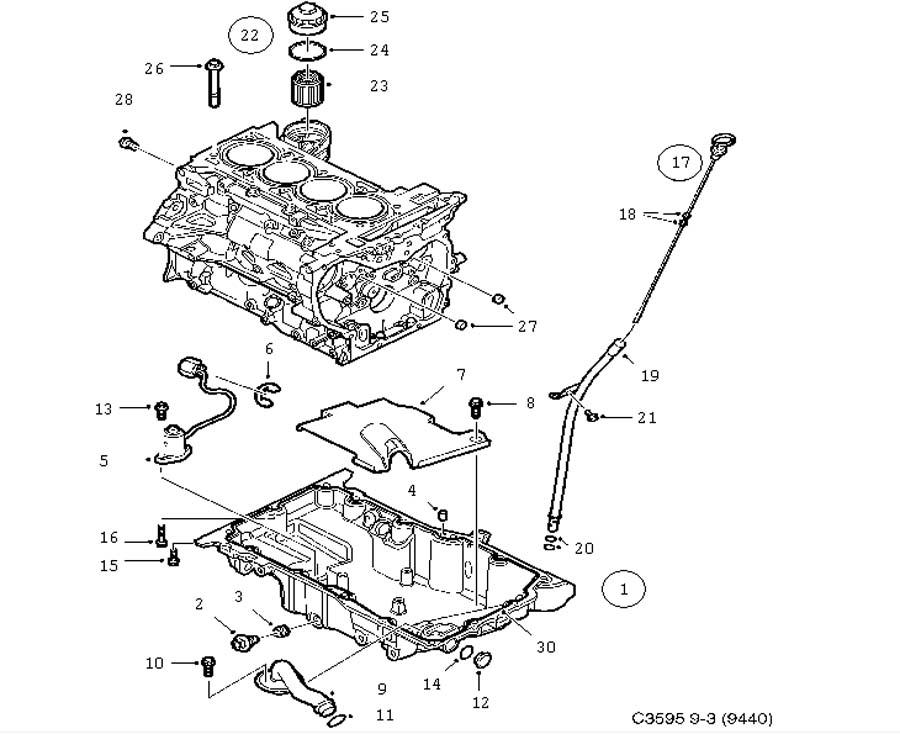 lubrication system  oil pan  oil filter 4 cylinder