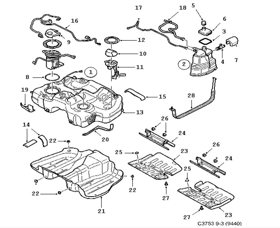 saab engine diagrams 1995 saab engine wiring harness #13