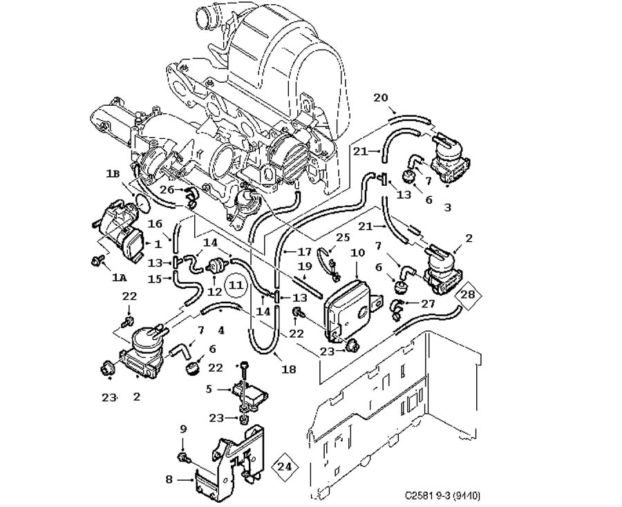 Saab 900 Ignition Coil Parts besides 9136243 as well Saab 9 3 Engine Diagram together with 12791728 furthermore 9169483. on saab 900 turbocharger