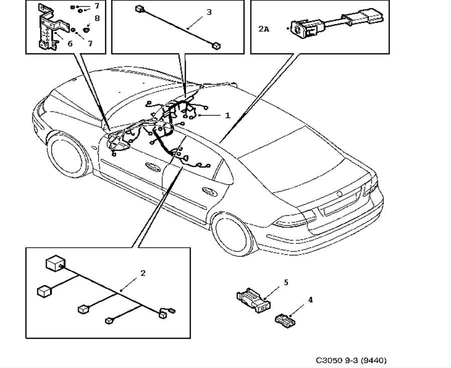 wiring and fuses  instrument panel 4 door 5 door convertible