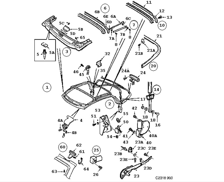 2003 Saab 9 3 Convertible Parts Diagram  Saab  Auto Wiring Diagram