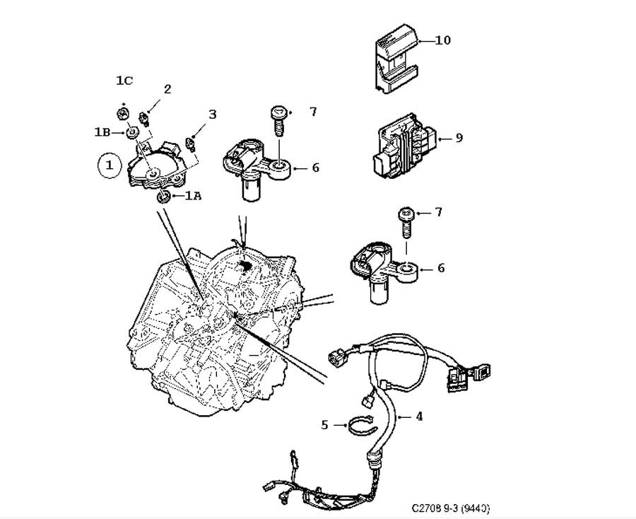 saab 93 transmission diagram