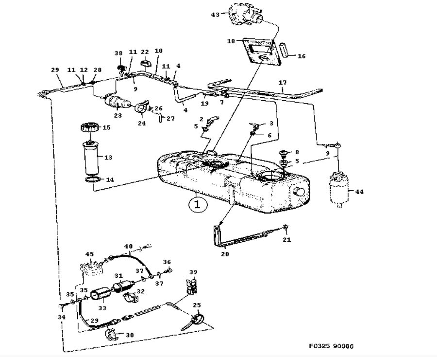 Fuel System Fuel Tank Engine 4 Cylinder