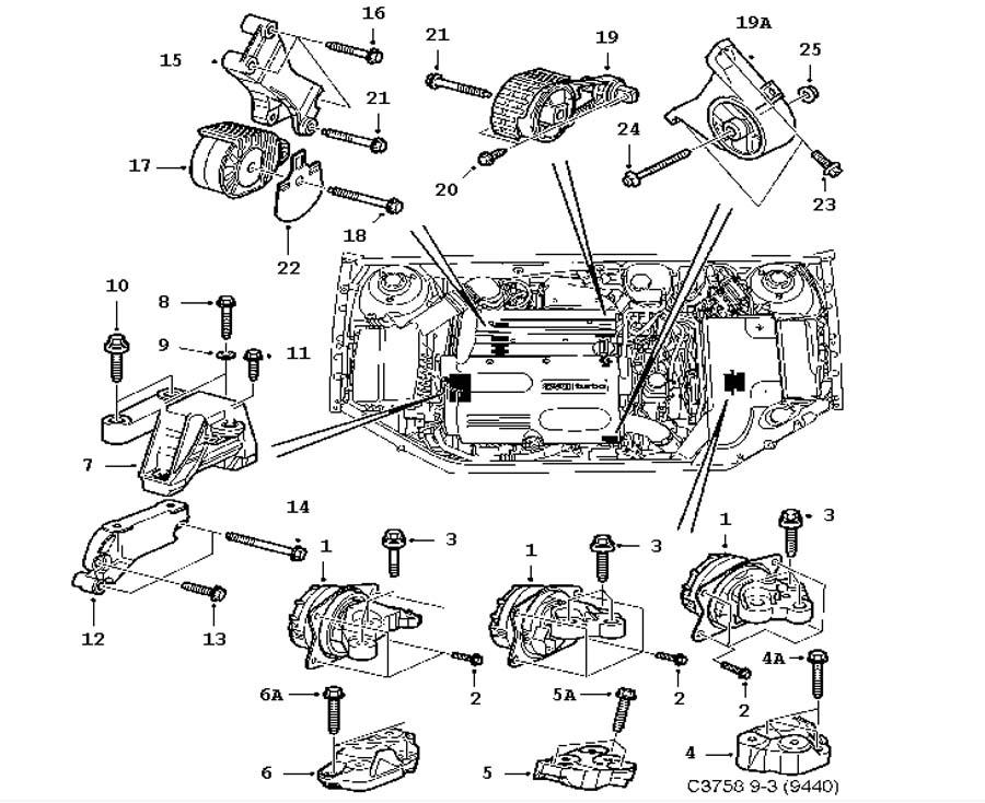 short block  engine suspension 4 cylinder