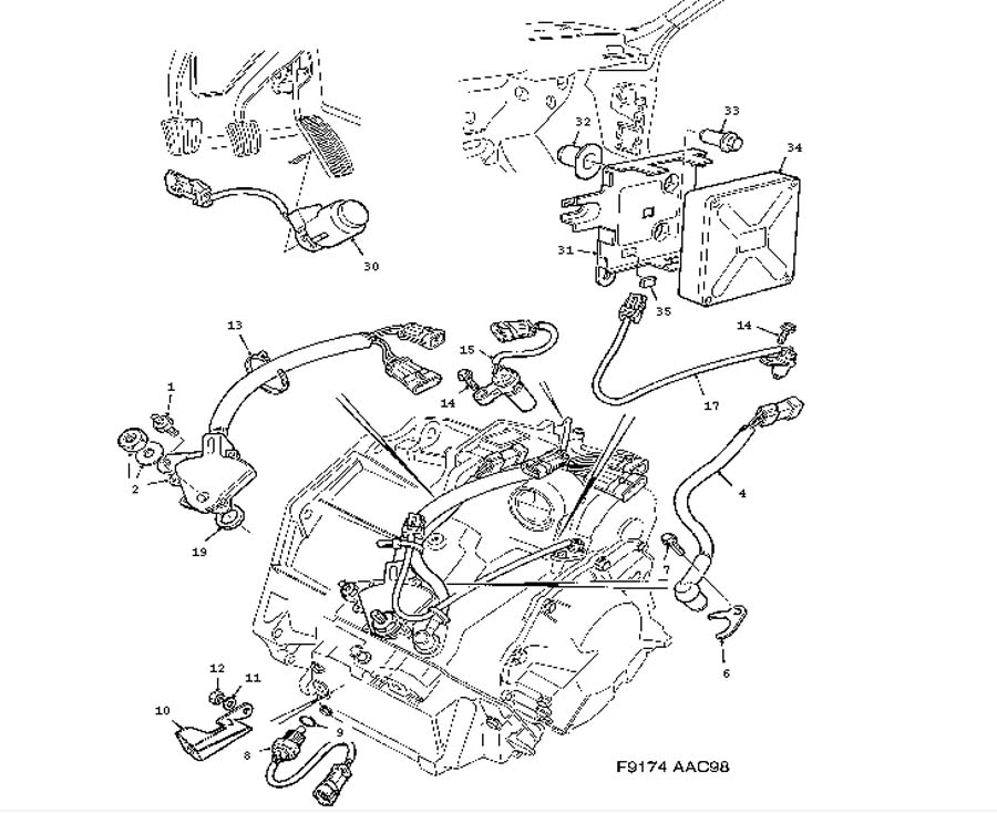 automatic transmission parts diagram 99 saab 9 5  saab