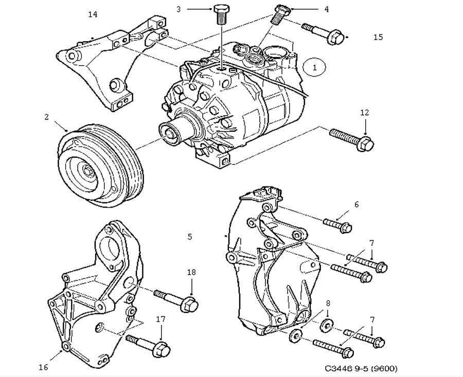 **FREE GROUND SHIPPING** Saab OEM Compressor (9-5 2003-2009)[12758380]  CHECK VIN - ITEM #1
