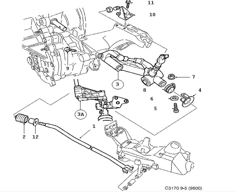 gear box control  manual  gear rod manual