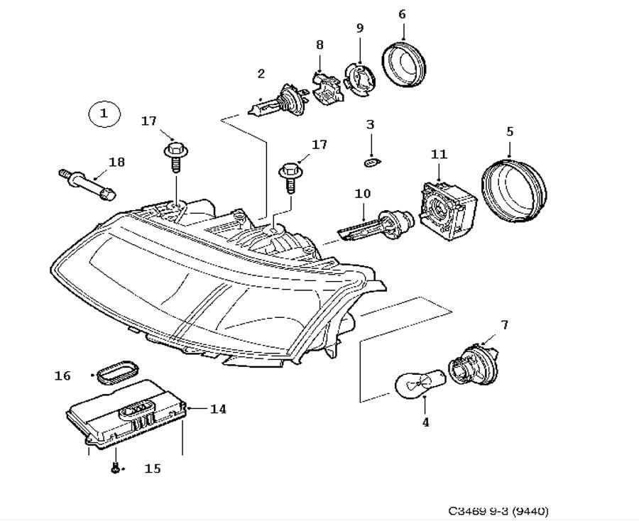 lighting  headlamp  xenon 4 door 5 door convertible