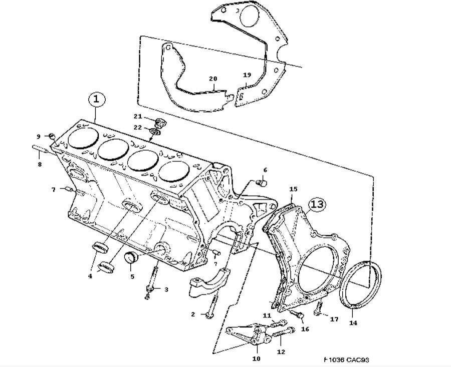 Engine Body Cylinder Block 4 Cylinder