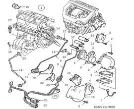 saab 9 5 sedan parts 2001 Saab Aero 9 5 1998 2011 12765865