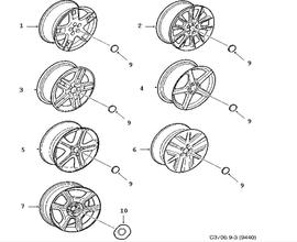 Light alloy wheel.(9-3 1998-2011)[12763042]