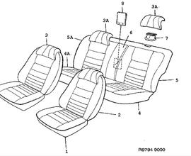 Seat cover.(9000 1988)[9697277]