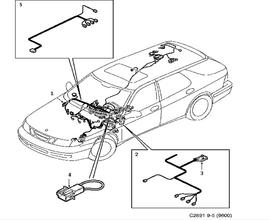 Dashboard wiring harness.(9-5 1998-2011)[12778901]