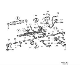 Power steering gear.(9-3 1998-2011)[5238720]
