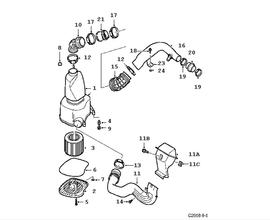 Air Filter Housing Genuine For Saab 4572509