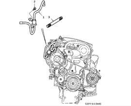 Genuine GM 12589478 Timing Chain Housing Gasket Left