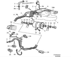 part number: 12794638  categories:engine found in: 9-3 1998-2011   assemblies: fuel system, fuel pipe, fuel filter