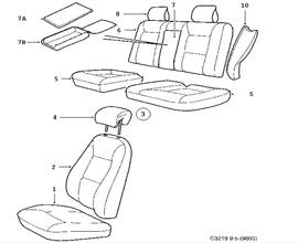 Seat cover.(9-5 1998-2011)[12773518]